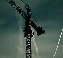 Crane towering in the Bedford sky. by fotddarren