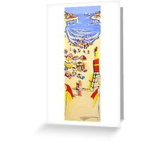Between the flags Greeting Card