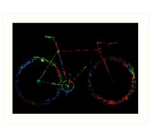 Word and colorful fixie! Art Print