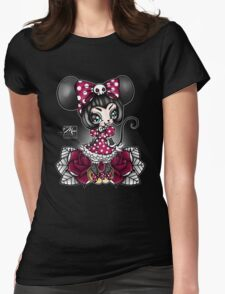 Mini Mouse Womens Fitted T-Shirt