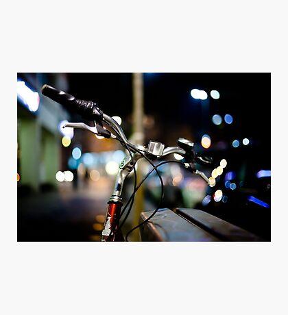 bicycle@night Photographic Print