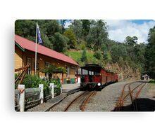 Walhalla Railway Station,Stringers Creek Gorge Canvas Print