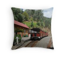Walhalla Railway Station,Stringers Creek Gorge Throw Pillow