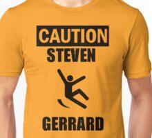 Caution: Steven Gerrard Unisex T-Shirt