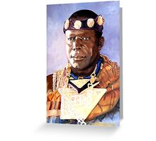 The Ashanti King 2 Greeting Card