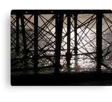 Eastbourne Pier in the early morning sun Canvas Print