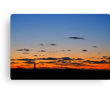 Sunset over Redruth, Cornwall Canvas Print