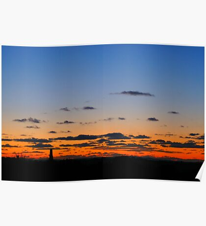 Sunset over Redruth, Cornwall Poster