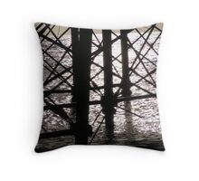 Eastbourne Pier supports Throw Pillow