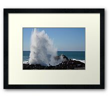 Crashing Wave At Kiama Framed Print