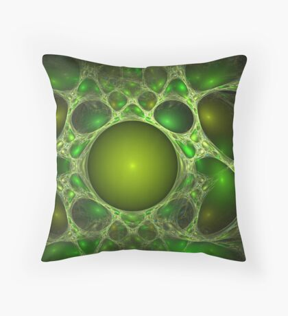The green network Throw Pillow