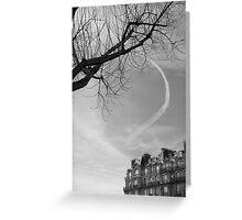 Trainée de nuage dans le ciel, Paris Greeting Card