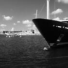 Bateau dans le port de La Valette, Malte by ploux
