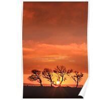 Greencliff Sunset - Westward Ho! Poster