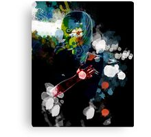splashed head Canvas Print