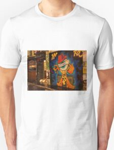 Hells Upstairs Yes its Cool - Centre Place Shutters are coming up Unisex T-Shirt