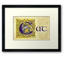 C is for Cat Page  Framed Print