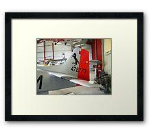 Rearing Mustang Framed Print
