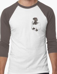 Pocket Protector - Male Raptor Men's Baseball ¾ T-Shirt