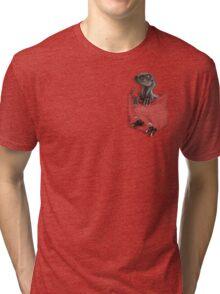 Pocket Protector - Male Raptor Tri-blend T-Shirt