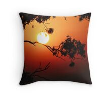 Fiery Sunrise  Throw Pillow