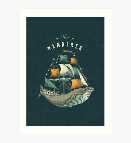 Whale | Petrol Grey Art Print