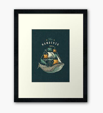 Whale | Petrol Grey Framed Print