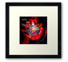 """My World Has Love""  Framed Print"