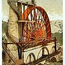 Laxey, the Wheel, Isle of Man, United Kingdom by Dennis Melling