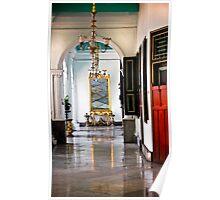 A corridor in Keraton- Sultan Palace, Yogyakarta Poster