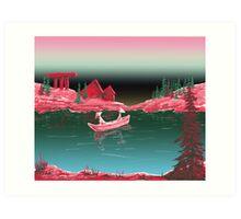 Japanese Lake Art Print