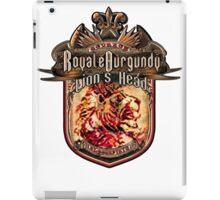 Royale Burgundy Lion Head iPad Case/Skin