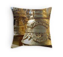 Golden Bell Throw Pillow