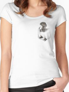 Pocket Protector - Female Raptor Women's Fitted Scoop T-Shirt