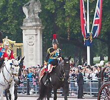 Princess Anne on horseback by Keith Larby