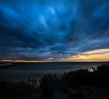 Seaford Sunset by Les Unsworth