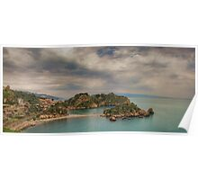 Panoramic view of Isola Bella Poster