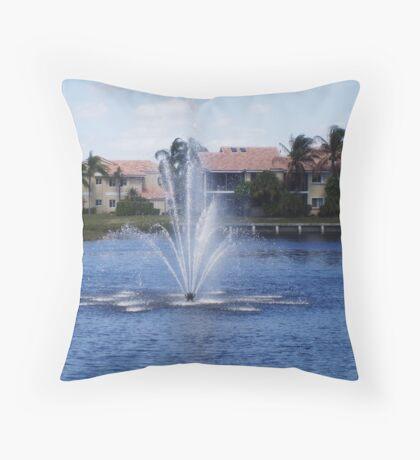 Spring in Boca Raton Throw Pillow