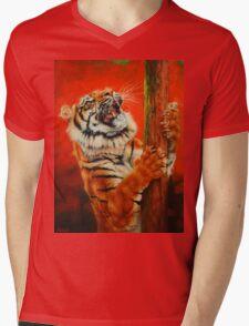 Tiger Tiger Burning Bright Mens V-Neck T-Shirt