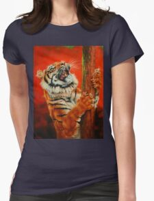 Tiger Tiger Burning Bright Womens Fitted T-Shirt