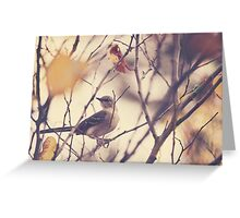 Little Bird on a Tree Branch Greeting Card
