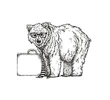 Go into Busines with a Grizzly Bear (2) Photographic Print
