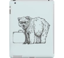 Go into Busines with a Grizzly Bear (2) iPad Case/Skin