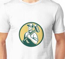 Demolition Worker Sledgehammer Circle Retro Unisex T-Shirt