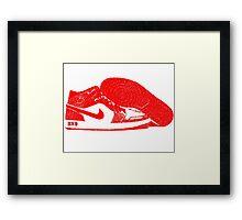 Red DX9 Jordans Framed Print