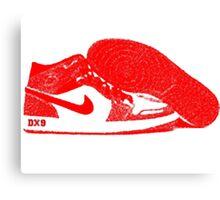 Red DX9 Jordans Canvas Print