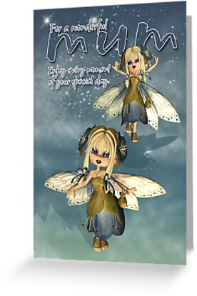 Birthday / Mother's Day Card For Mum With Moonies Cutie Pie Fairy  by Moonlake