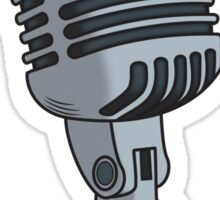 Old School Microphone Sticker