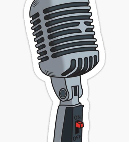 Old School Microphone Sticker
