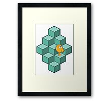 QBert is waiting... Framed Print